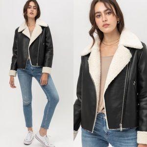 Dylan Faux Leather Fur Jacket